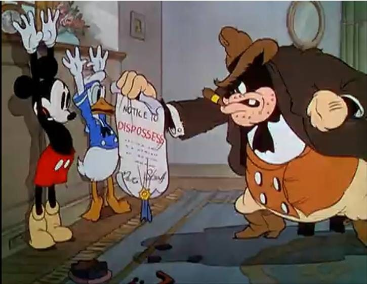 Pete,Donald and Mickey