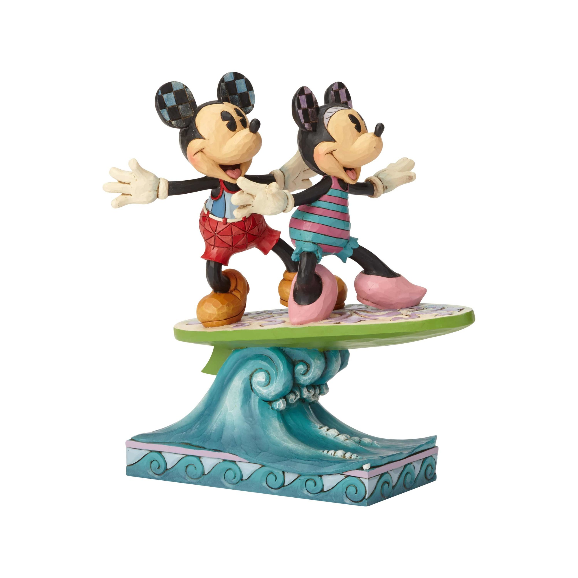 Mickey and Minnie Surfing