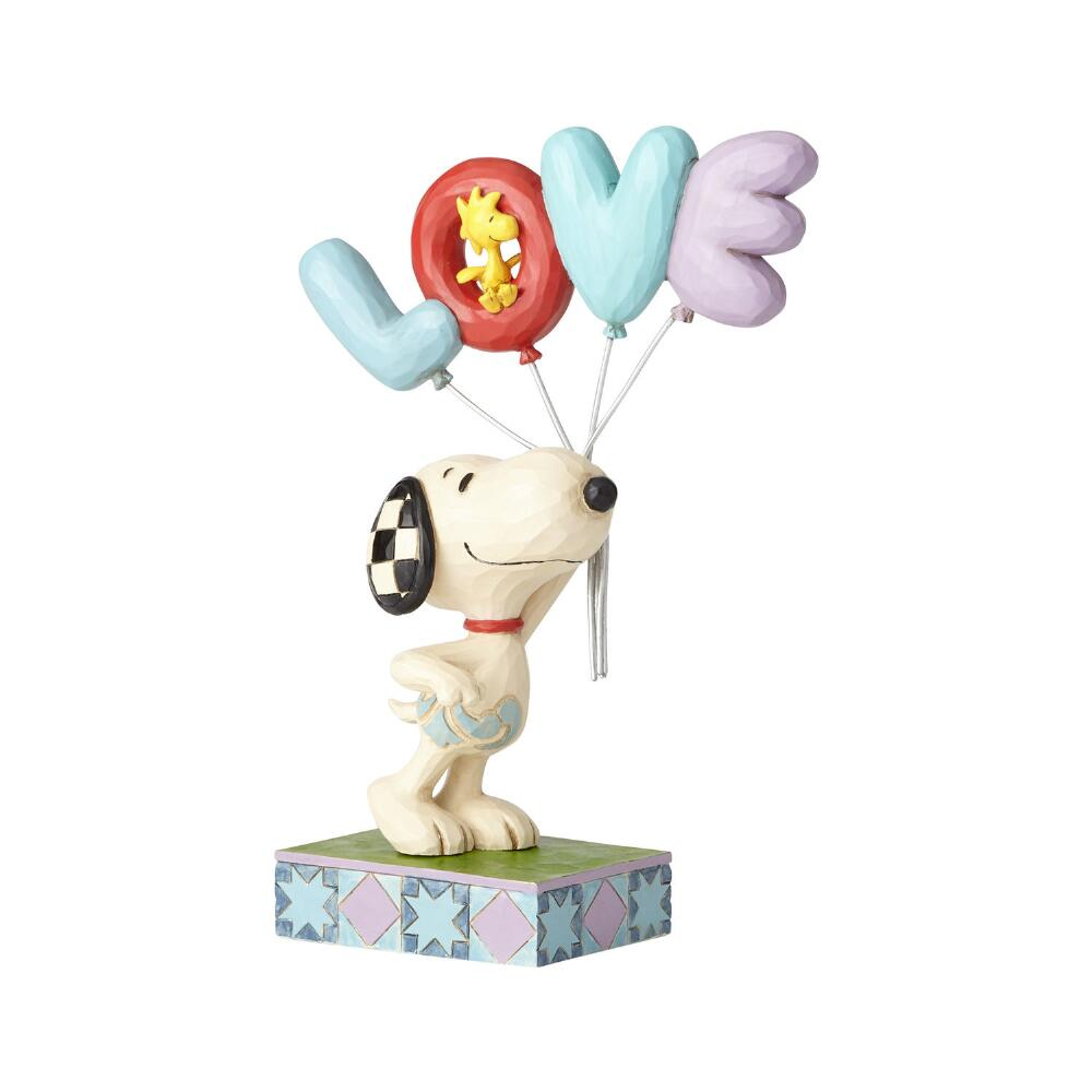 Jim Shore Peanuts-Snoopy with LOVE Balloon